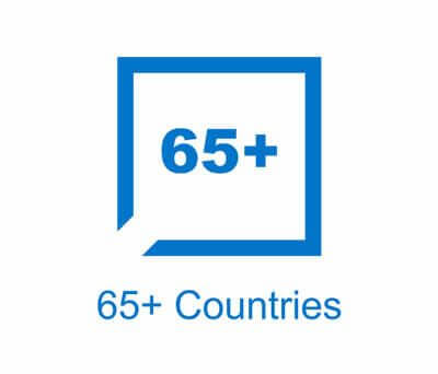 65+ Countries