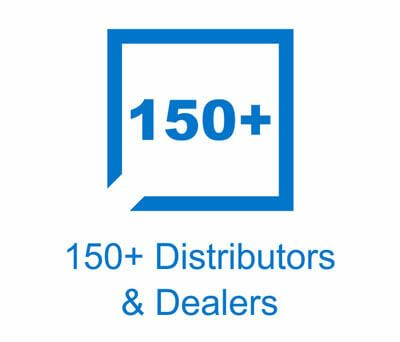 150+ Distributors & Dealers
