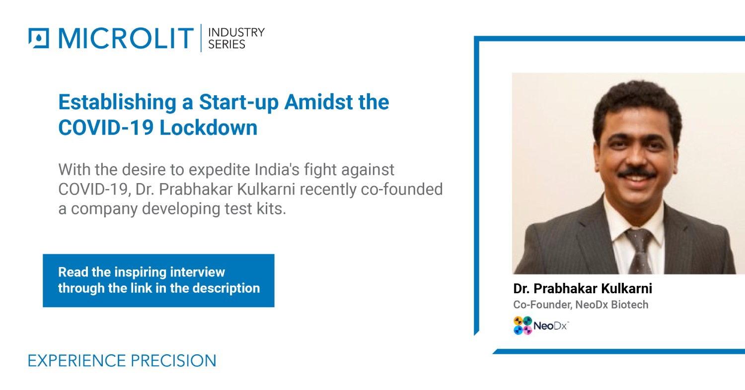 Dr. Prabhakar Kulkarni shares the story of establishing a start-up amidst the COVID-19 lockdown
